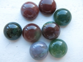D01/5 Gemstone Nature Cabochon 12mm - INDIAN AGATE