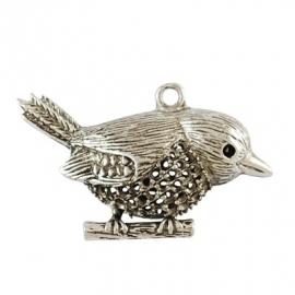 L28 Big Bird Hanger - silver 53x32mm