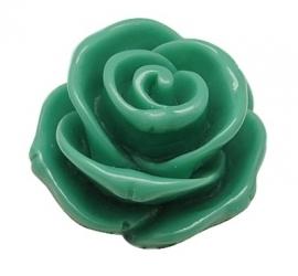 E09/1 Cabochon Vintage Green Flower 23mm 10 stuks