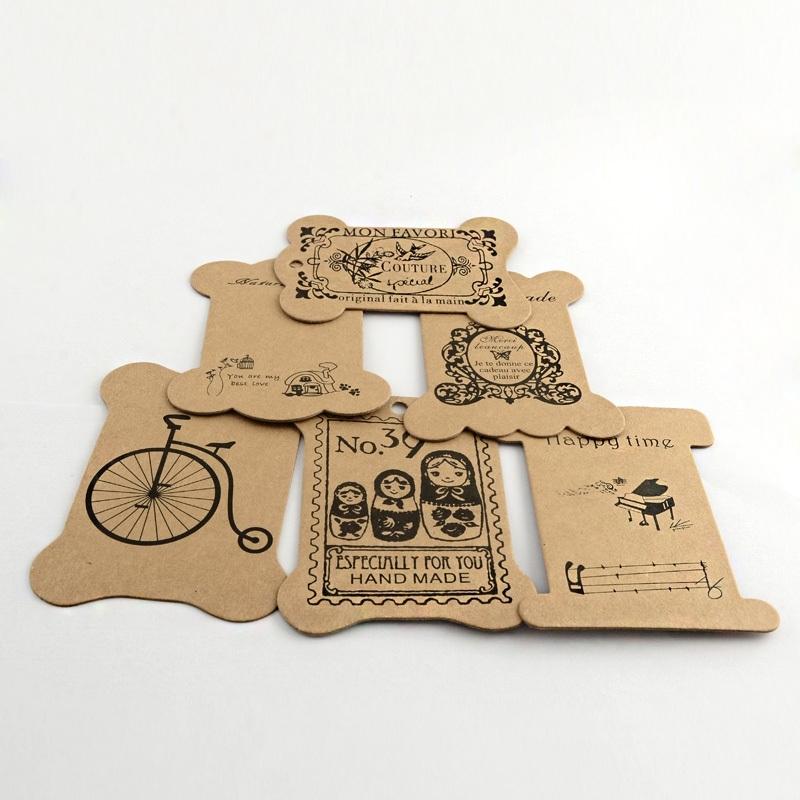 Display card   KRAFT Brown paper 25 stuks mix