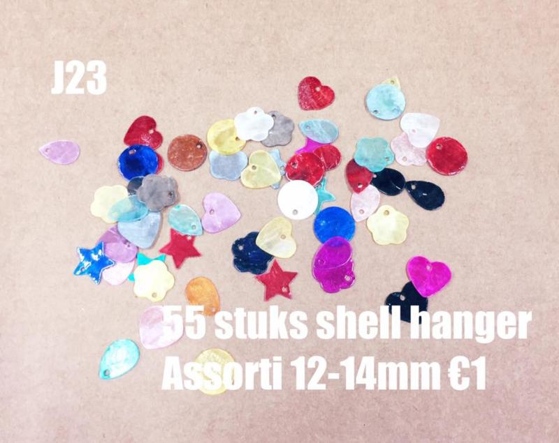J23 ±55 stuks shell hanger mix 12-14mm