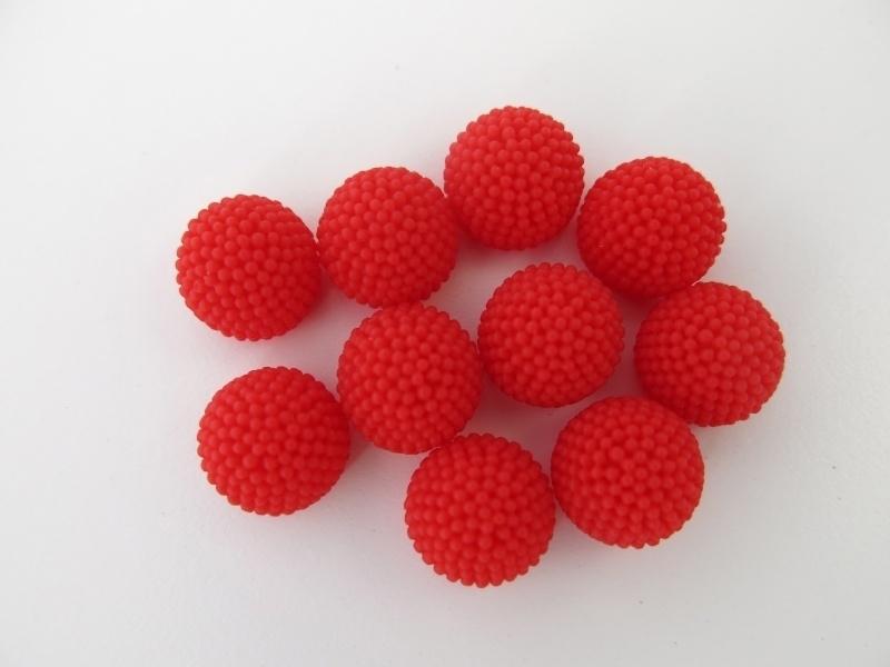 LIV   10mm resin cabochon   RED 50 stuks C21
