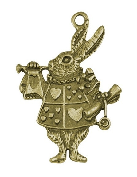 Hanger - Queen of Hearts Rabbit bronze 10 stuks A51/2