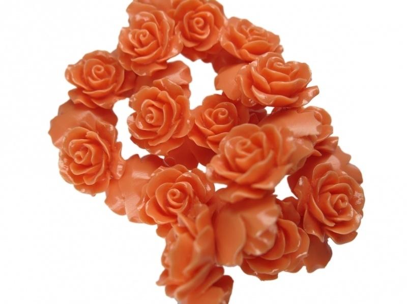 REZA | resin flower kraal | 18mm | KORAAL 25 stuks D04