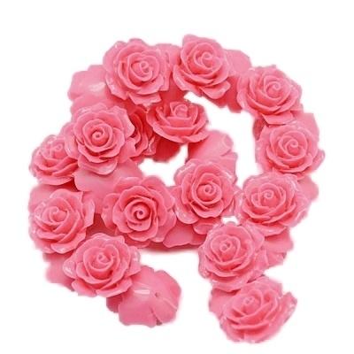 REZA | resin flower kraal | 18mm | CERISE 25 stuks D13