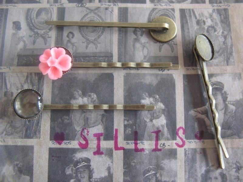 B31 Hair pin setting 12mm - brons 25 stuks