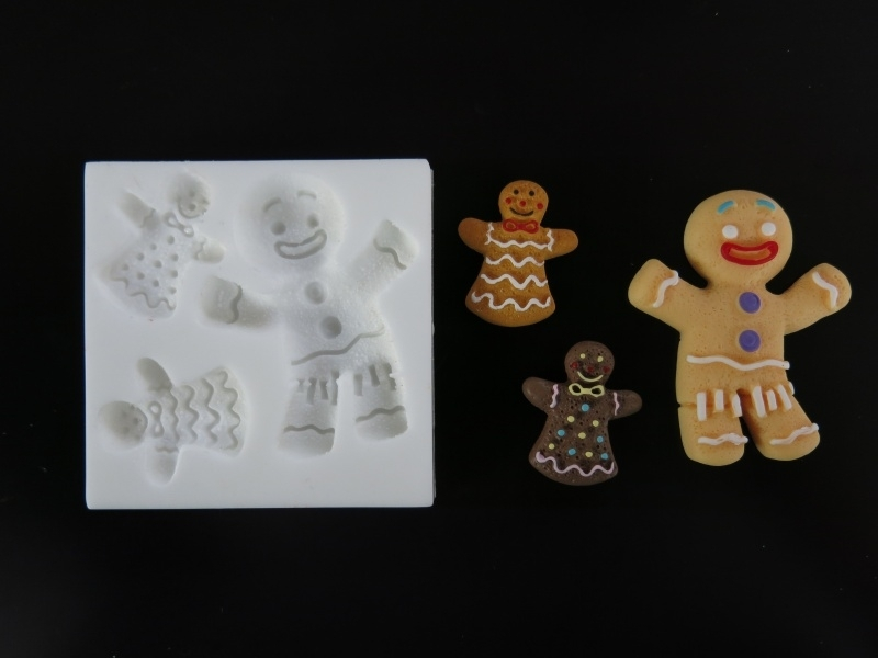 Sillicreations Mould   GINGERBREAD COUPLE