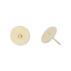 500 stuks goud kleurige oorstekers 6mm met stop L53