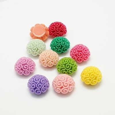 L45 Curly Flower Beads | 19x13mm | 10 stuks (mix)