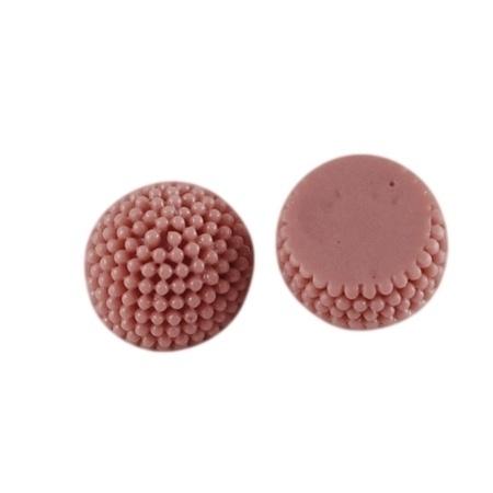 LIV | 10mm resin cabochon | ROSYBROWN 50 stuks C04