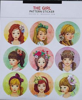 The Girl Scrapbook pattern sticker C22