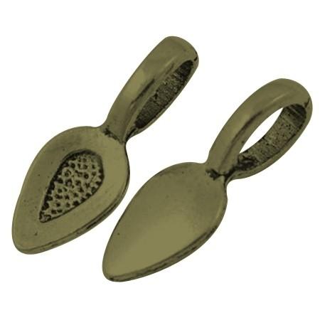 Bail setting | Glue pad | Bronze 21x8mm 25 stuks D16