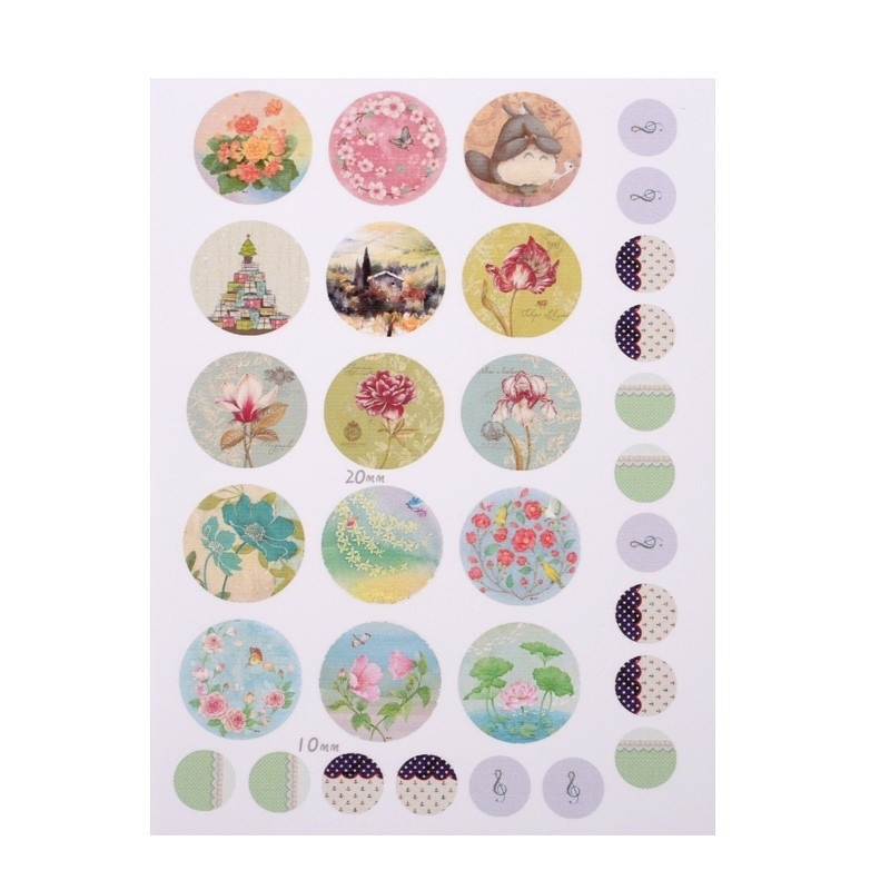 Sillis Scrapbook Stationery | Collage Sheet 20mm / 10mm L024|01