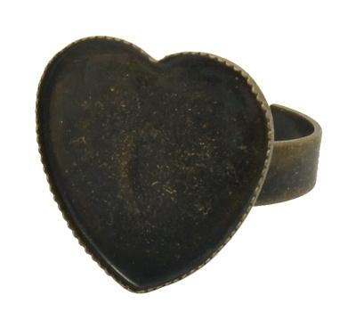 HEART   Ring starter   17x18mm 3 stuks A03/1