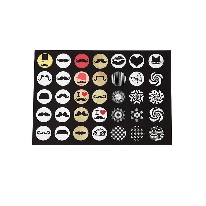 Sillis Scrapbook Stationery | Collage Sheet 14mm L028|10