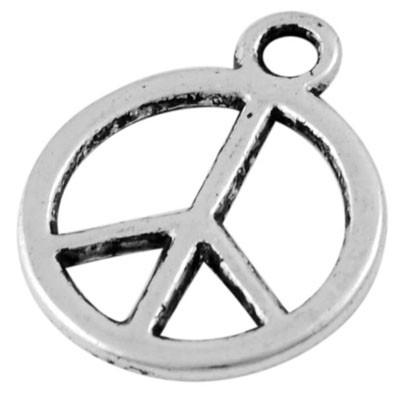J53 H01/2 DIY Hanger - Peace zilver 12mm 20 stuks