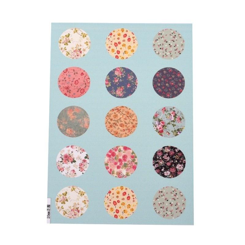 Sillis Scrapbook Stationery   Collage Sheet 20mm L022 05