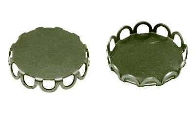 A25 Cabochon setting - Lori 20mm brons 25 stuks