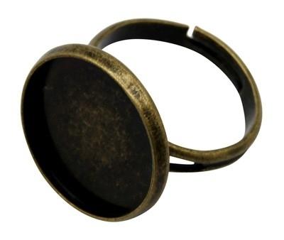 A35 Ring starter Jeanine - Brons 12mm 10 stuks