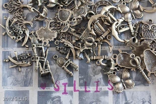 F40 Wholesale MIX | Bronze Hangers SETTINGS  ±150 pcs MIX