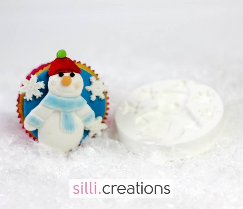 Sillicreations Mould   Thema SNOWMAN
