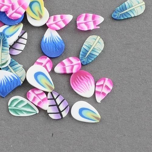Peacock Polymer miniature slices - 100 stuks A01/01