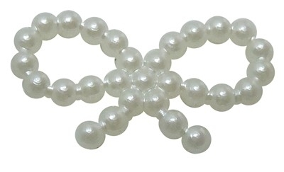 F39 Pearl | Bow 10x18mm | 200 pcs