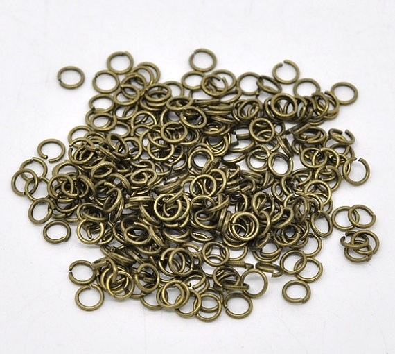 D27/2 Bronze jump rings   6mm   20 gram