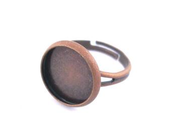 B42 Ring starter Jeanine - Copper blank bezel setting 16mm 10 stuks