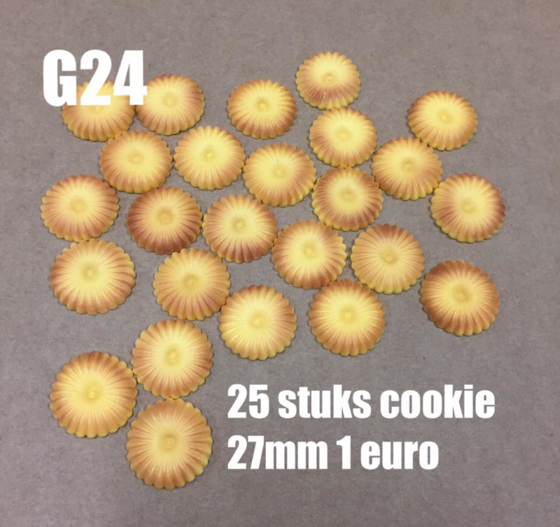 A17 flatback cabochon candy round cookie 27mm