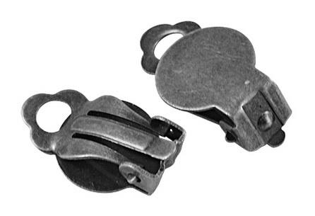 B20 Clip on Earring | 12mm | Silver 5 paar