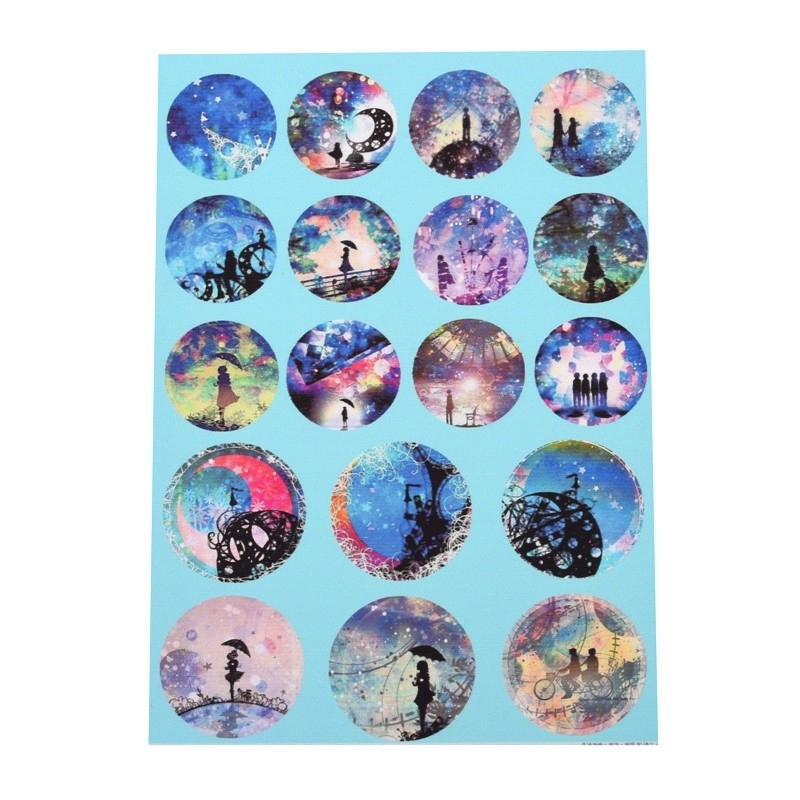 Sillis Scrapbook Stationery   Collage Sheet 20mm / 25mm L022 08