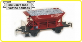 9413 ballastwagen, hopper  CSD serie St met lading, with load