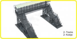 8991 voetgangersbrug 2 sporen, foot bridge