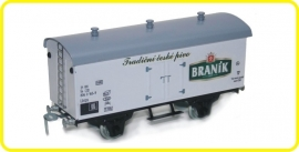 9556  wagon couvert de brasserie Branik