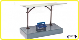 9983 short railway platform with slanted roof