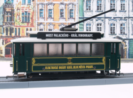 61 tram from Prague, with lights