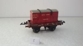 Hornby flat truck met meubelcontainer