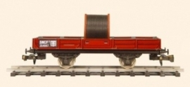 430  wagon à bord bas SNCF avec câble
