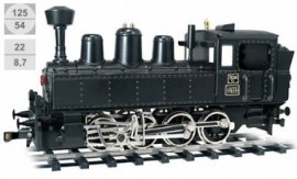 183 steamlocomotive K.K.St.B. serie 178.15, with vacuum brake