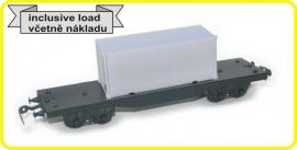 9421 platte wagon 4 asser CSD serie Smmps met lading
