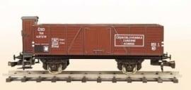 407 offener Güterwagen  CSD reihe Vtu mit Bremserhaus
