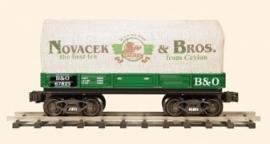 421BAO wagon, canvas gedekt, Novacek and Bros, Baltimore and Ohio