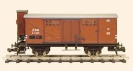 435 gesloten wagon CSD serie Z met remmershuis