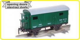 9498 gesloten wagon CSD serie Lp met remmershuis.