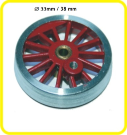 9853 spaakwiel stoom loco zonder flens 33mm 38 mm