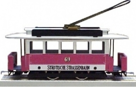 54 Germany, all round tram, metal, gauge 0