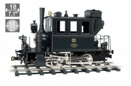 224 steamlocomotive Glaskasten