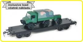 9423 Flachwagen 4 Achsen CSD reihe Smmps beladet