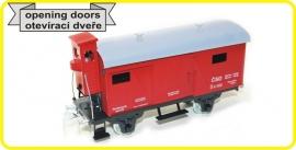 9497 gesloten wagon CSD serie Lp met remmershuis